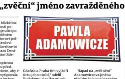 W Pradze będzie ulica Pawła Adamowicza?
