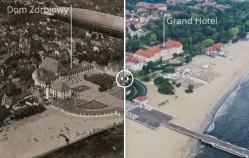 Sopot kiedyś i dziś na zdjęciach z drona