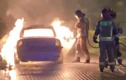 Spalone auto na Chełmie