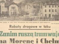 """Zanim ruszą tramwaje na Morenę"" - pisano 35 lat temu"