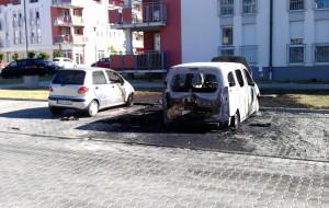 Na osiedlu Nowy Horyzont spłonęło auto postrzelonego mężczyzny