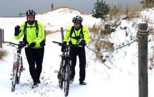 Zimowa przeprawa przez Wybrzeże Słowińskie