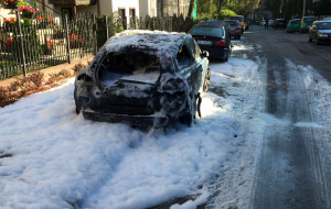 19 samochodów podpalono w nocy w Gdańsku