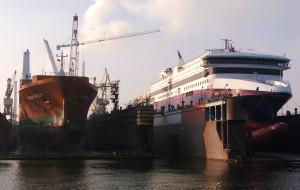 Na remont w Gdańskiej Stoczni Remontowa statki czekają w kolejce