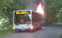 Zapalił się autobus miejski w Gdyni