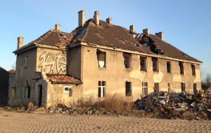 Budynek stacji Kanał Kaszubski do rozbiórki