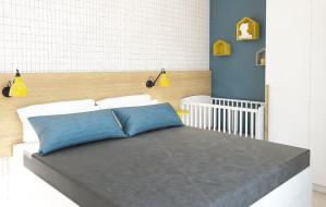 Sypialnia dla rodziców i małego dziecka