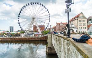 Koło widokowe w Gdańsku w innym miejscu