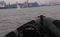 Wieloryb odwiedził gdyńskich marynarzy