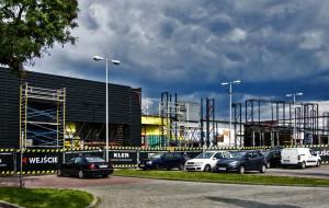 Trwa przebudowa centrum meblowego przy al. Grunwaldzkiej