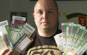 Ma kilkaset biletów z meczów Lechii