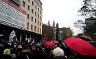 Czarny Protest przed siedzibą Solidarności