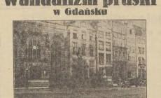 Pruski wandalizm w dawnym Gdańsku