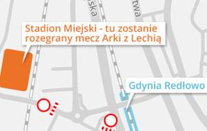 Jak dotrzeć na niedzielny mecz Arka-Lechia?