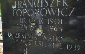 Zniszczony grób Westerplatczyka zostanie naprawiony