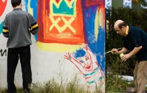 Niepełnosprawni artyści na ulicy sztuki