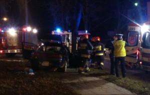 Pijany 22-latek rozbił mitsubishi na Przymorzu