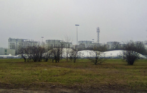 Rozbiórka sportowej hali namiotowej na Zaspie. Obiekt był samowolą