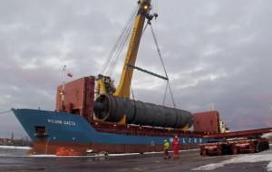 290-tonowa kolumna stanie w rafinerii