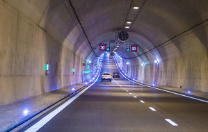 Od soboty w tunelu pojedziemy 70 km/h