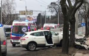 Uciekał przed policją,  jadąc pod prąd i spowodował wypadek