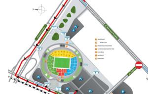 Jak dojechać na stadion? Są zamknięte ulice