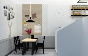 Dwupoziomowe biuro dla czterech osób może mieć domowy charakter
