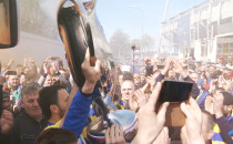 Piłkarze Arki powitani w Gdyni
