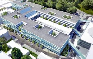 Na Centrum Medycyny Nieinwazyjnej zawisła wiecha. Budują najnowocześniejszy szpital na Pomorzu