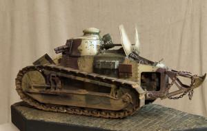 Pasjonują go czołgi, ale nie wszystkie. Kolekcjonuje głównie modele z I wojny światowej