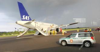 Awaryjne lądowanie samolotu w Rębiechowie
