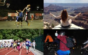 Aktywny weekend: biegi, rolki, rower, joga, koszykówka