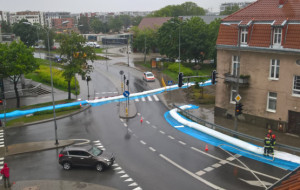 W Trójmieście ciągle pada. Zagrożenie powodzią w Gdańsku