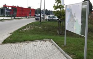 Kuriozalna mapa dzielnicy Gdańska. Można grać w wisielca albo koło fortuny