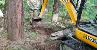 Szczątki z II wojny znalezione w parku Reagana w Gdańsku