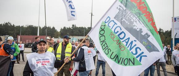 Pracownicy protestowali pod siedzibą DCT