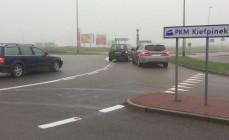 Kierowcy zagubieni na rondzie przy Auchan