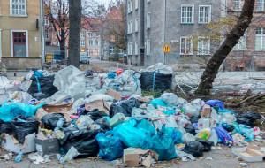 Góra śmieci w centrum Gdańska, bo... przeniesiono śmietnik