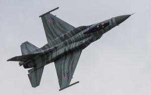 Wojskowe samoloty na niebie Trójmiasta