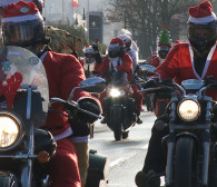 Orszak mikołajów na motocyklach przejechał przez Trójmiasto