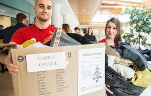 Studenci zbierają odzież dla pacjentów