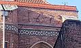 Krzywa ściana dawnego gdańskiego kościoła
