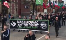 Dyskusja po manifestacji ONR w Gdańsku