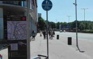 Spory pieszych i rowerzystów przy Krewetce
