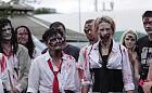 Zombie goniły biegaczy po parku Reagana