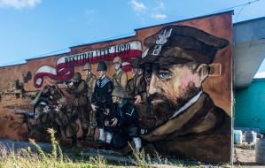 Pierwszy mural o Westerplatte na nowej siedzibie piekarni Pellowskiego