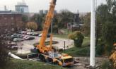 Rozpoczął się montaż 40-metrowego masztu na Grodzisku w Gdańsku