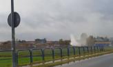 Paliły się odpady chemiczne w Rębiechowie