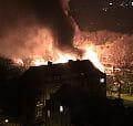 Nocny pożar warsztatu we Wrzeszczu