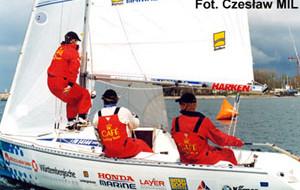 MK Cafe Sailing Team za metą
